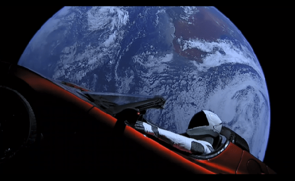 Watch the live feed from SpaceX's Roadster-driving Starman in space